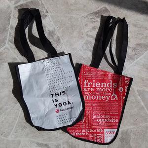 💥5/$25 2 LULULEMON small tote bags